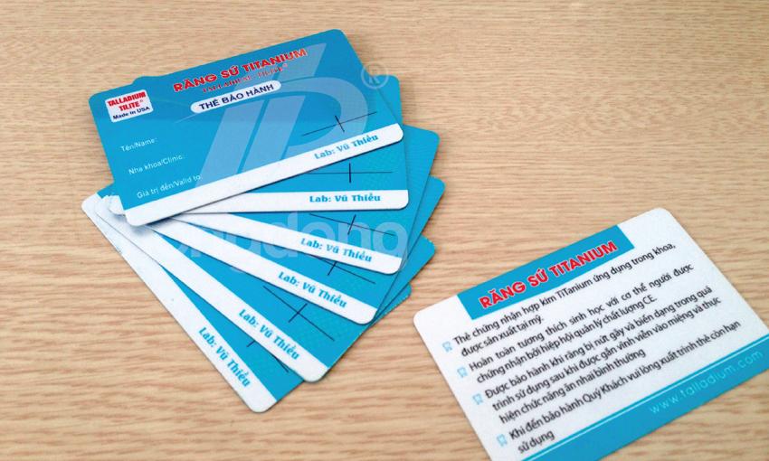 In thẻ bảo hành chất lượng tại Hà Nội