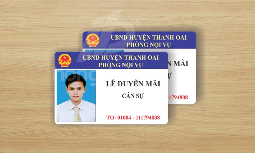 Mẫu thẻ nhân viên đẹp cho huyện Thanh Oai