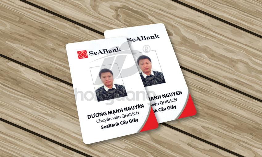 Mẫu thẻ nhân viên của ngân hàng SeaBank Cầu Giấy
