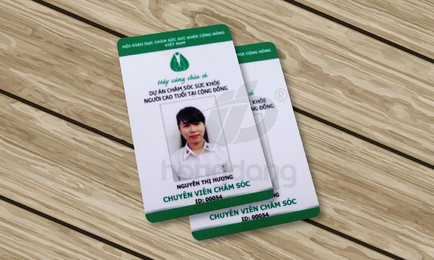 Mẫu thẻ nhân viên thiết kế cho hội giáo dục chăm sóc sức khỏe cộng đồng