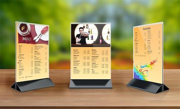 thiết kế menu nhựa